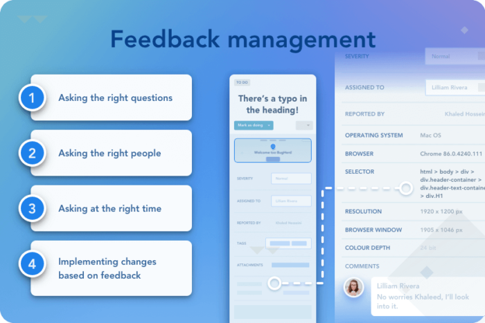 feedback management with website feedback tool questions to ask